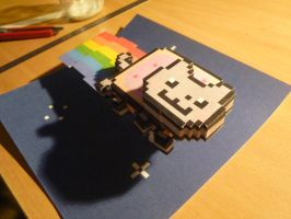 Nyan cat Papercraft by MrQqn