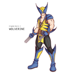 Wolverine, Kingdom hearts by alessandelpho