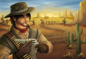 Commission - John Marston by Selkys