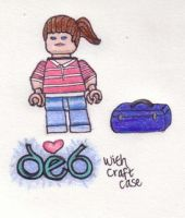 Deb Lego Minifig Sketch by starrley