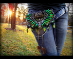 --SOLD--Fantasy Dragon Scale Belt Pack by Wood-Splitter-Lee