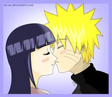 NaruHina: Kiss 3 by Su-uX