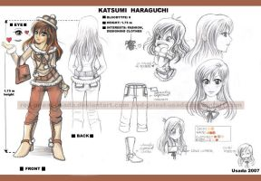 OC Katsumi- chara design by Red-Priest-Usada