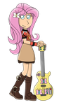 Guitar Hero Fluttershy by Joeycrick