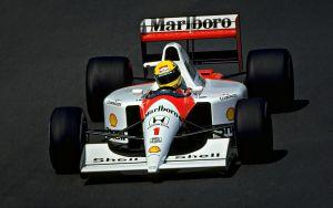 Ayrton Senna wallpaper McLaren by JohnnySlowhand