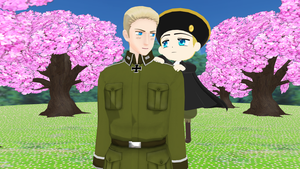 MMD Hetalia - Germany with Holy Roman Empire by PikaBlaze