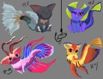 Kitty-fish Adopts (OPEN) by WacomDragonArtist