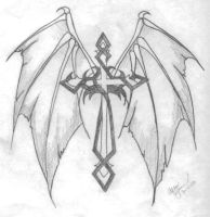 Demon Winged Cross by afrodidy87