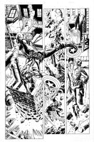 Cap pencils by Luke Ross, inks by Ulises Curiel by lobocomics