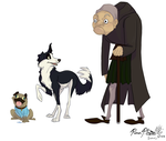 Sheep, Cat and Rancor by Falcolf
