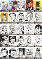 Doctor Who Sketch Cards by ryanorosco