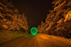 lightpainting in Snow by frenchbear