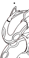 Free Rayquaza Bookmark Lineart. by InnocentLittleWolf