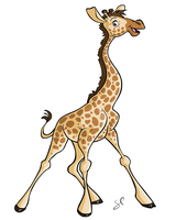 FlashPotatoes - Baby Giraffe by shayfifearts