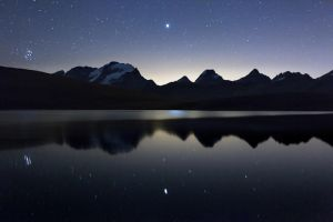 Pleiades and Jupiter by RobertoBertero