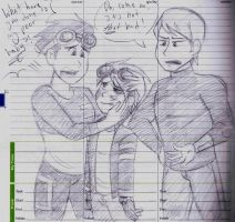 Rex the overbearing mother + Ben the apathetic dad by dreamer45