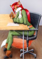 Vani at work by Vani-Fox