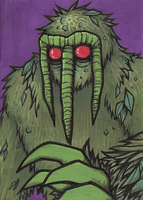 Man-thing trading card by Yamallow