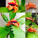 Parasect Pokemon Plushie! by saywhatwhit