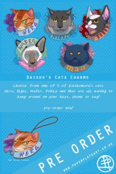 Daisho's Cats - Charms by Paper-Plate