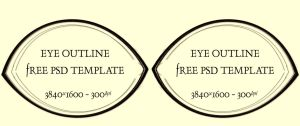 Eye Outline Template by SKiNBuS