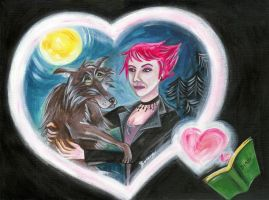 Tonks and Lupin by stardog-art