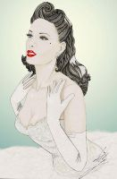 Dita in the white dress by Lilly-F-lie