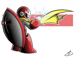 Protoman for Child's Play by JoeMcGro