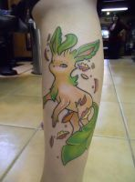 Leafeon Tattoo by CryingFifteenth