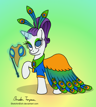 Rarity Prepares for a Masquerade - Day 27 by SketchinEtch