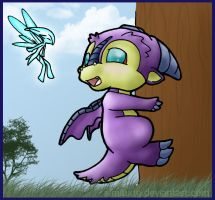 Little Dragon in Tree by Almiux19