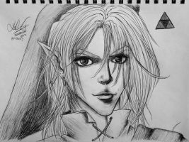 Link - Pen Sketch by VampireDragonGirl66