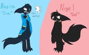 revised Magica and Nigel refs by Nicey1015