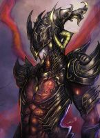 Black Steel Knight by zamboze