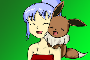 Tammy and Eevee by J-Mac09