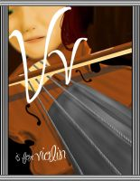 Vv is for violin by MrsMcGinty