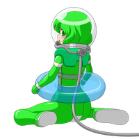 A girl in diving suit 3 by Nekomi4