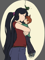 (Somewhat) Under the Mistletoe by chibiBiscuit