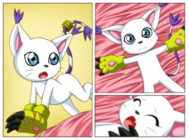 Gatomon is bored by bbmbbf
