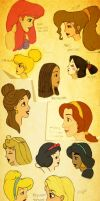 Disney: Female profiles by mavila16