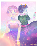 Space Alien Babe and The Queen Of Roses by hxnna