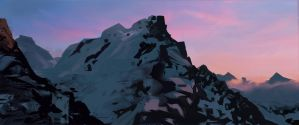 Sunrise Mountains by StepToEnchantment