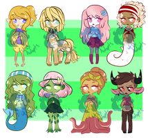 Monster Girl Batch by JessiAdopts