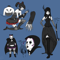 Goth Baddies Females Ref by jeinu