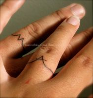 Wedding Ring Tattoo by heartMelinda