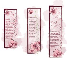 Cherry Blossom Bookmarks by chrisfire1