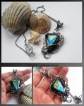 Christina- wire wrapped silver necklace by mea00
