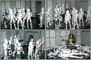 Dalek vs Clone Troopers by CyberDrone