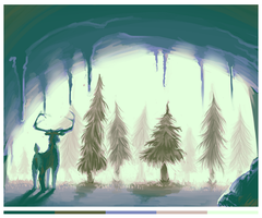 Palette Practice - Into the Woods by Jabnormalities