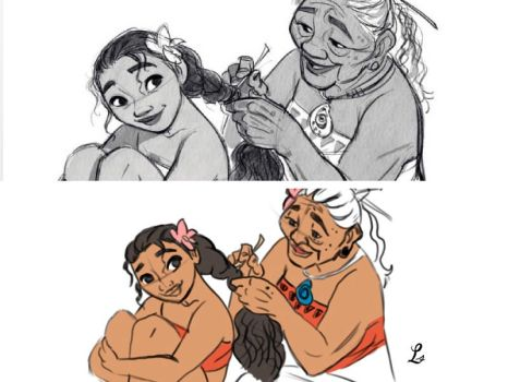 Moana and her Grandmother by Laura-Smith13
